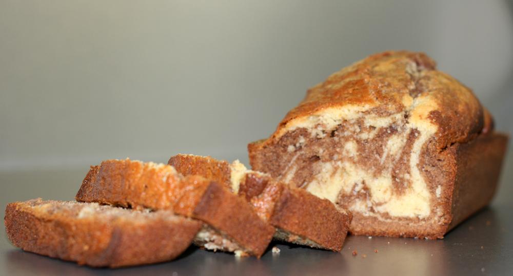 Marble Cake or Gateau Marbré